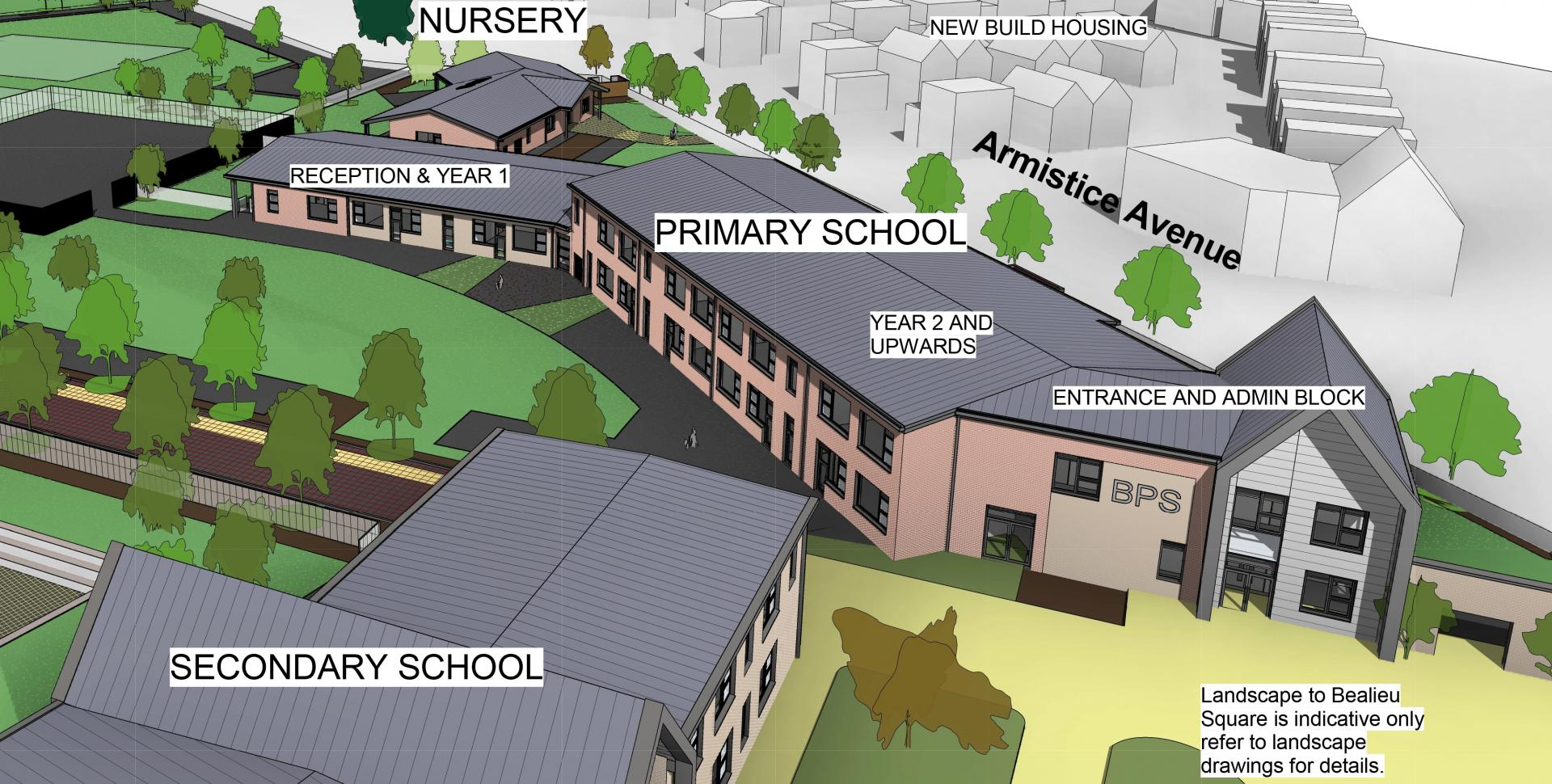Plans for new 1200 place secondary school given green light as essexs first all through school moves a step closer